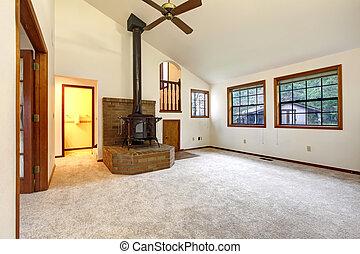 Farm house empty living room