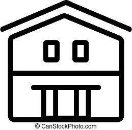 Farm house icon vector. Isolated contour symbol illustration