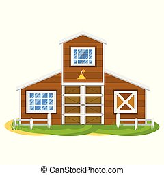 farm house illustration