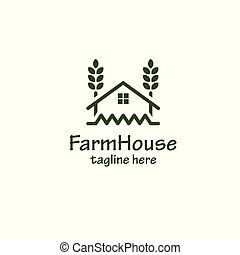 Farm house. vector logo template