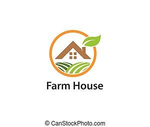 Farm house logo vector icon template