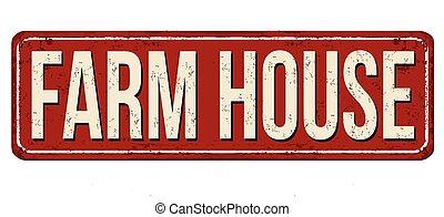 Farm house milk vintage rusty metal sign