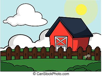farm house scenery