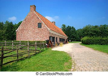 farm hus, historiske