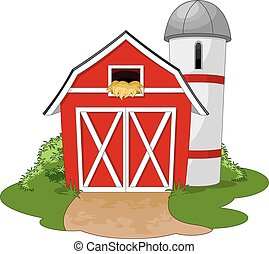 Farm - Illustration of a farm
