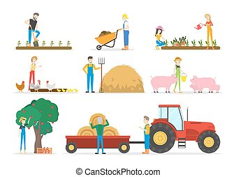 Farm illustrations set.