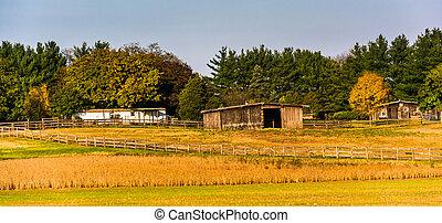 Farm in rural Frederick County, Maryland.