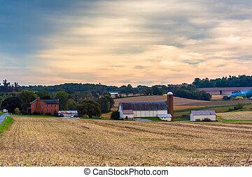 Farm in rural Lancaster County, Pennsylvania.