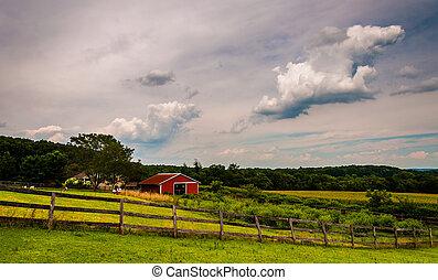 Farm in rural York County, Pennsylvania.