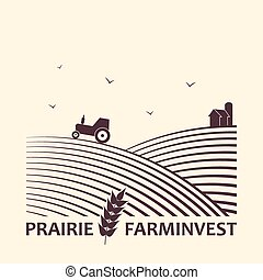 Farm investment business logo. - Vector logo concept for...