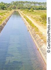 Farm Irrigation channel in Odeceixe