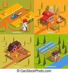 Farm Isometric 2x2 Concept