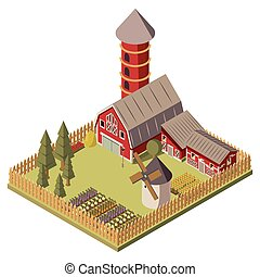 Farm Isometric Design