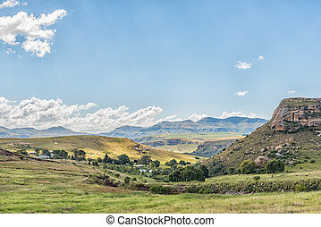 Farm landscape between Fouriesburg and Clarens