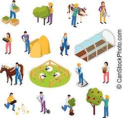Farm Life Isometric Set