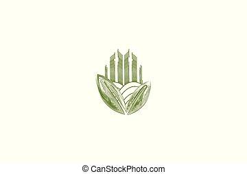 farm logo inspiration isolated on white background