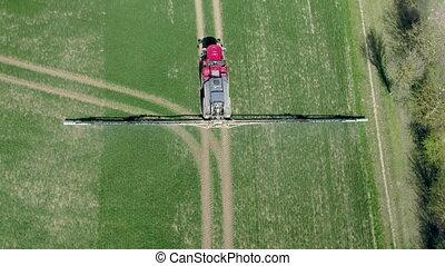 Farm Machinery Spraying Controversial Glyphosate Herbicide -...