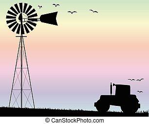 Farm Morning Sky