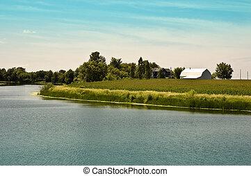 Farm near the river