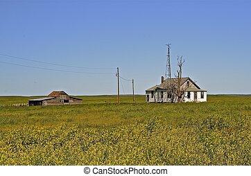 Farm on the prairie