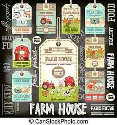 Farm Price Tag Label Collection