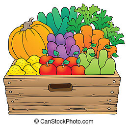 Farm products theme image 1 - eps10 vector illustration.