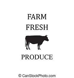 Farm quote lettering typography. Farm fresh produce
