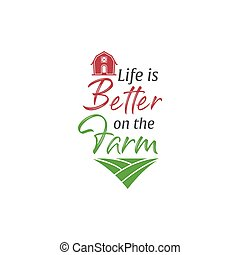 Farm quote lettering typography