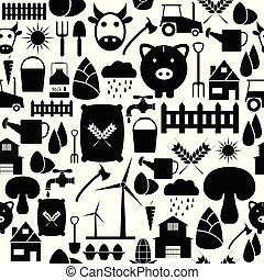 farm seamless pattern background icon.