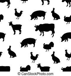 Farm seamless pattern