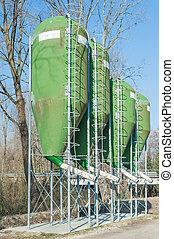 farm silos for fish farming