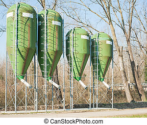 agricultural silos for the storage of feed