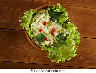 farm-style salad of cabbage - Spring fresh farm-style ...