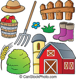 Farm theme collection 1 - vector illustration.