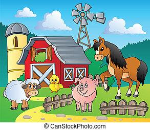 Farm theme image 4 - vector illustration.