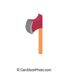 farm tool ax rural isometric icon