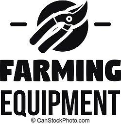Farm tool logo, simple style