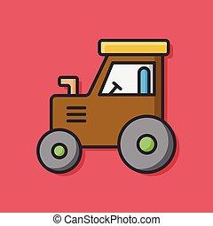 Farm Tow truck icon