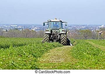 farm tractor at work