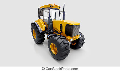 Farm tractor in studio