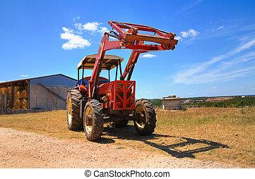 Farm tractor.