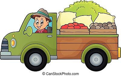 Farm truck theme image 1