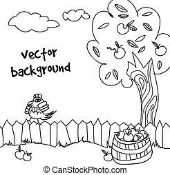 farm vector background