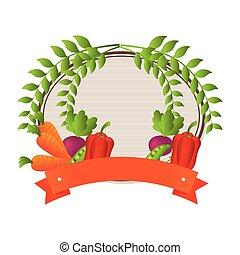 farm vegetables product icon vector illustration design