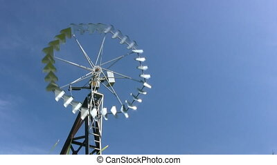 Old Fashion North American Windmill Water Pump