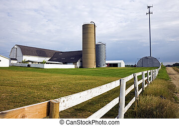 Farm with a cell tower