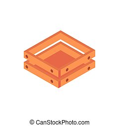 farm wooden box equipment isometric icon