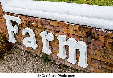 Farm word on the wall