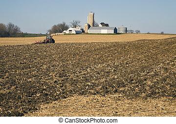 Farm Work after harvest- seen in November.