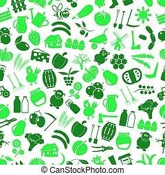 farma, a, zemědělství, big, jednoduchý, barva, ikona, seamless, nezkušený, model, eps10